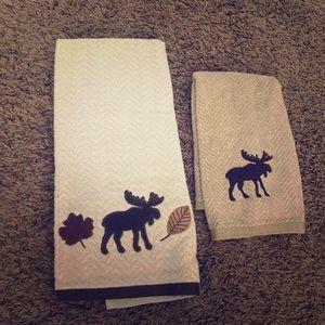 Moose bath towels